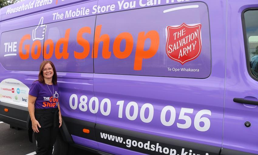 Jodi Hoare and the Good Shop truck