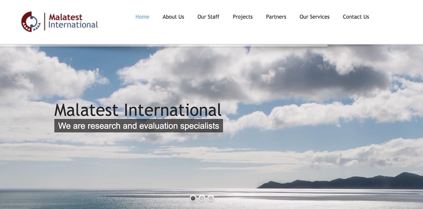 Malatest website home page