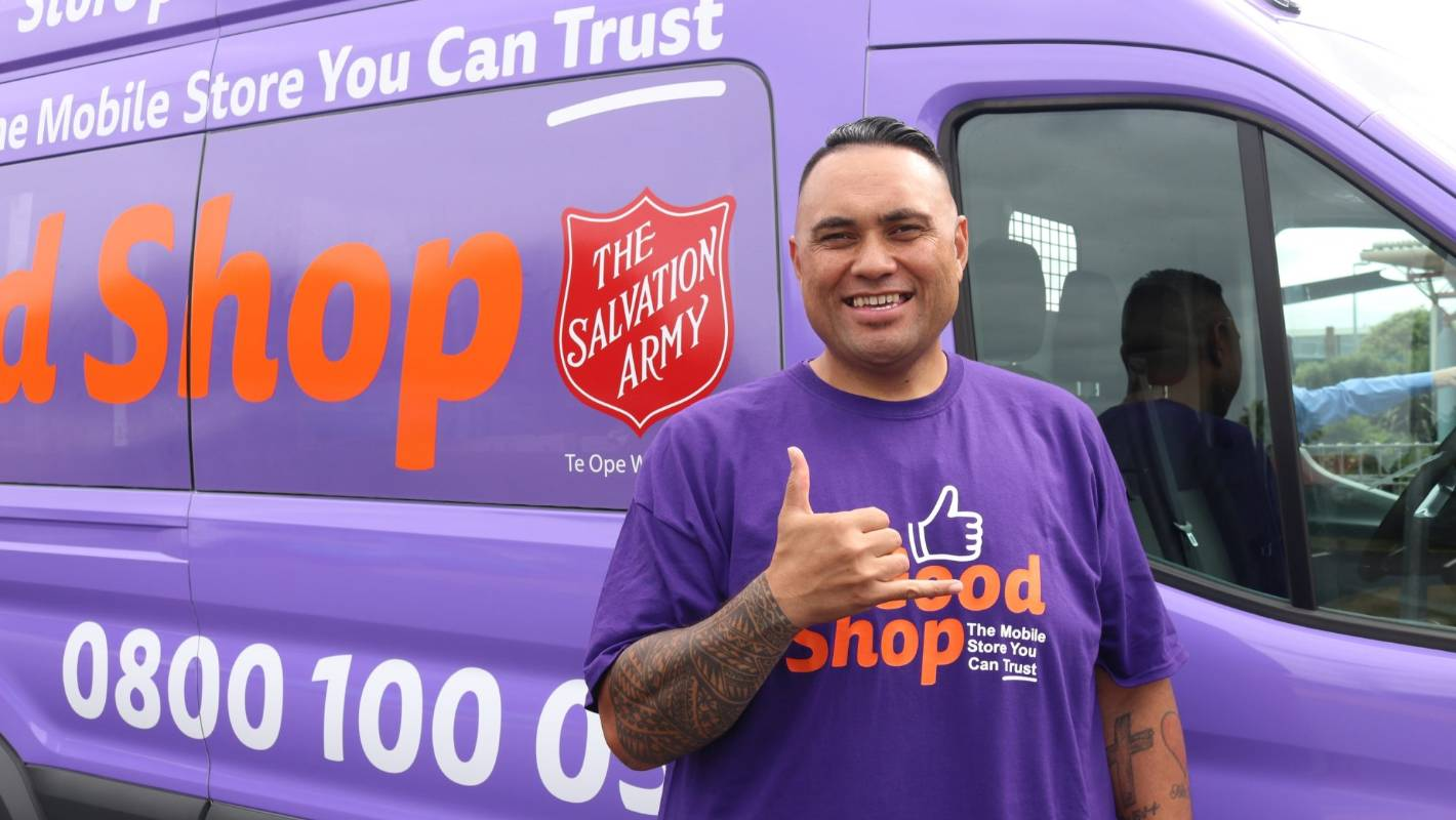 The Good Shop arrives with donated goods and a smile