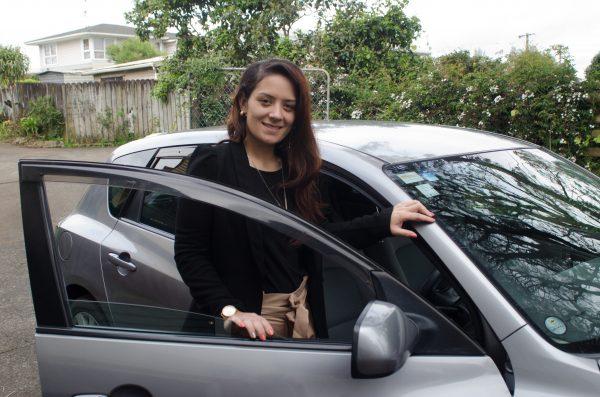 Aayla with car