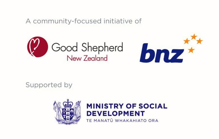 Good Shepherd NZ, Bank of New Zealand and Ministry of Social Development