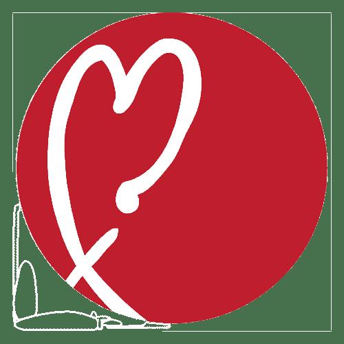 Good Shepherd logo heart red
