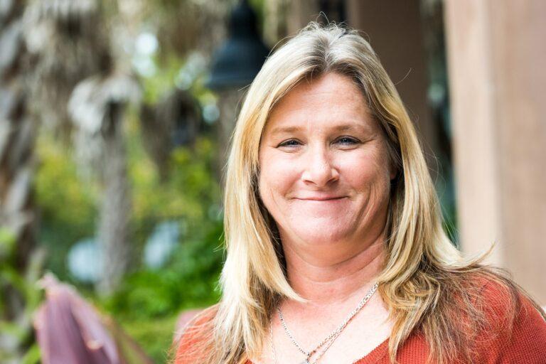 Smiling mature woman looking at the camera